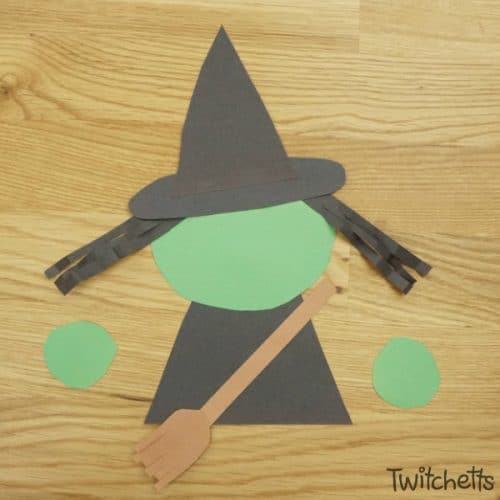 This paper witch craftivity is so much fun! Using simple supplies, your child will create a Halloween craft that can make their imagination fly.