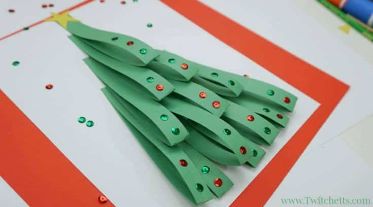 Looped paper Christmas tree