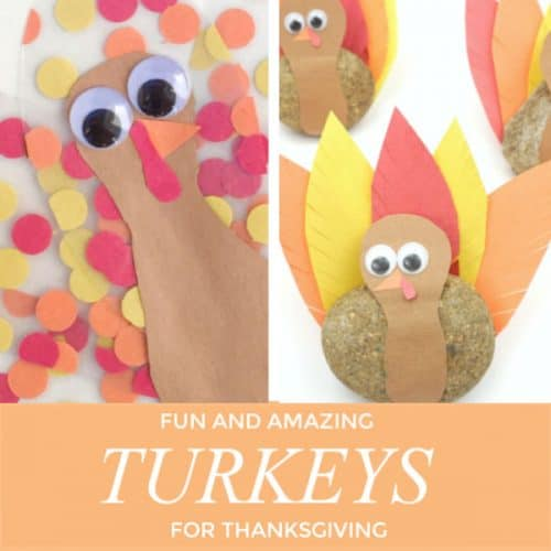 We LOVE to create fun Thanksgiving turkey crafts. With simple supplies and quick tutorials, you kids will be creating turkeys that wow! #thanksgiving #turkey #craftsforkids #classroomcrafts #howtomakeaturkey #paperturkey #constructionpaper #thanksgivingcraftsforkids #twitchetts