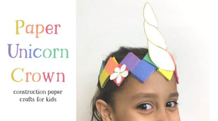 How to make a unicorn crown with construction paper