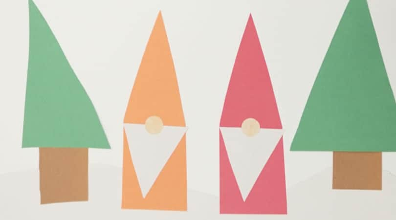 How to use shapes to make paper gnomes