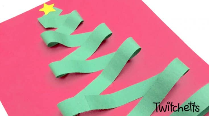 Zig zag Christmas tree papercraft