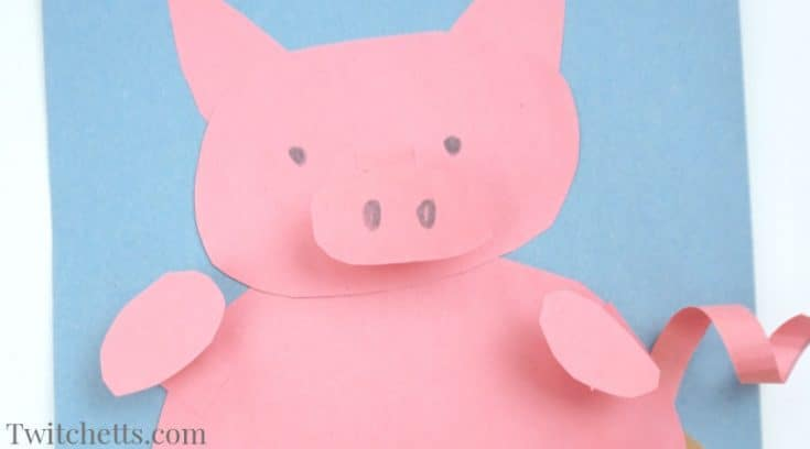 How to make a fun 3D paper pig craft for kids