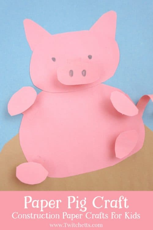 How To Make A Fun 3d Paper Pig Craft For Kids Twitchetts