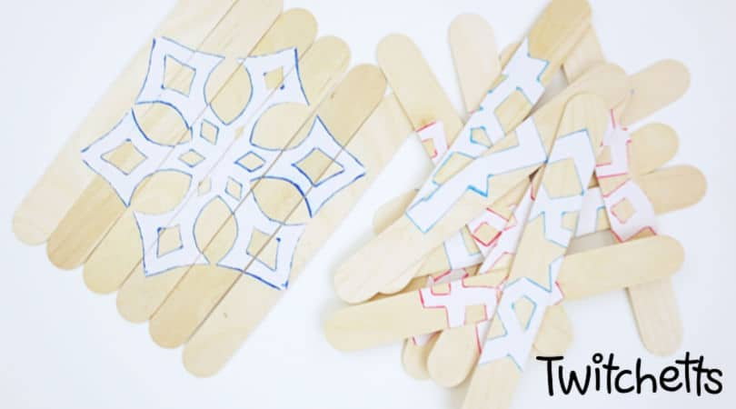 How to make an easy winter puzzle with craft sticks