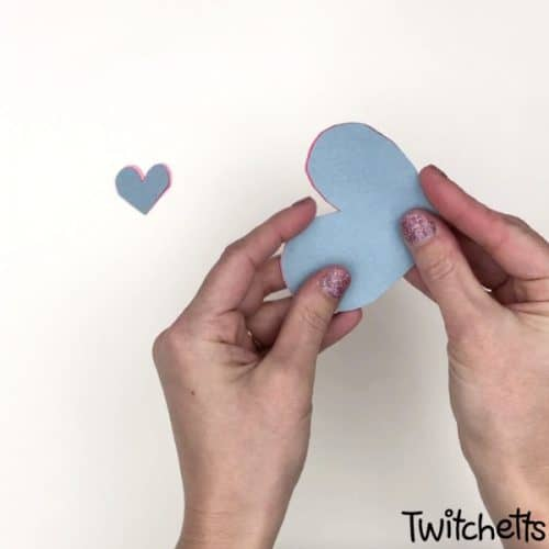 Mended paper hearts craft project is perfect to make with kids at home, to give to their favorite people. #Twitchetts