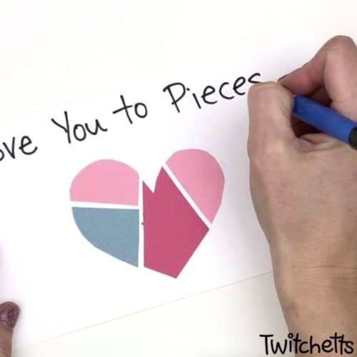 From broken heart to coloful mended paper hearts in just few minutes! Create 3 different Valentine's Day crafts with kids at home or in a classroom! #Twitchetts