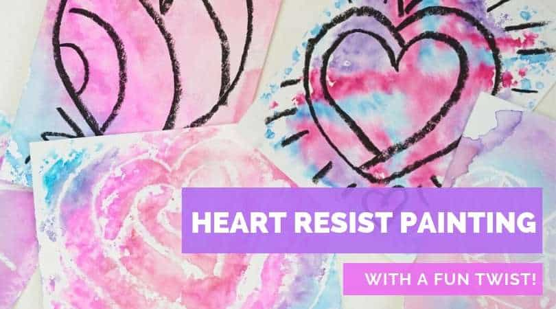 How to make a heart resist painting with a fun twist