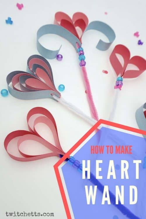 We have a perfect Valentine's day craft for you - paper heart wand! Help us spread some love magic with your kids this Valentine's day! #Twitchetts