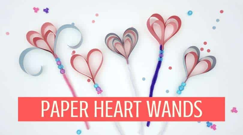 How to make a cute construction paper heart wand