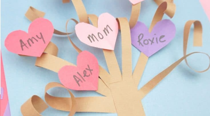 How to make a fun 3D Valentine's Day paper tree