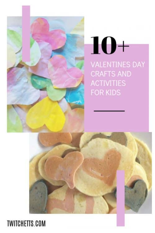 Get inspired by this growing list of amazing Valentine's Day crafts and fun activities for celebrating Valentine's Day. Find a new family tradition or the perfect craft for your classroom! #twitchetts