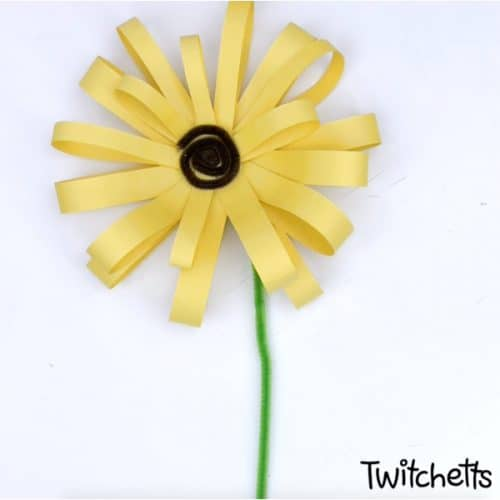 diy sunflower craft from consturction paper #twitchetts