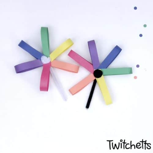 mark the beginning of spring with rainbow daisies craft #Twitchetts