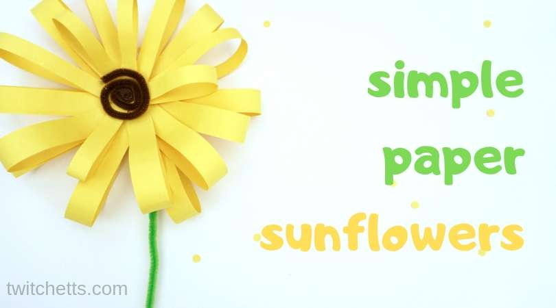 How to make a simple paper sunflower