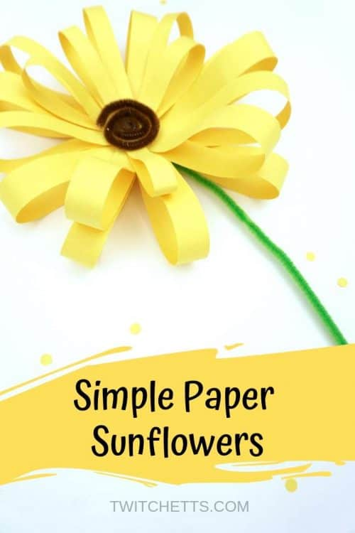 How to make simple giant paper sunflowers with kids #Twitchetts