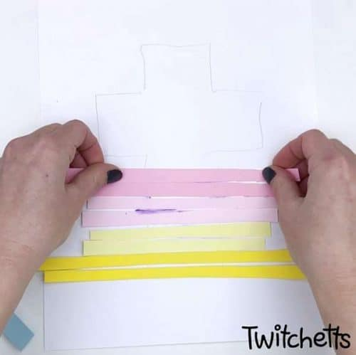 Easter craft for preschoolers to work on cutting and gluing