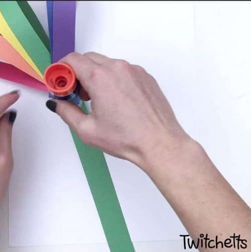 3d rainbow flower craft