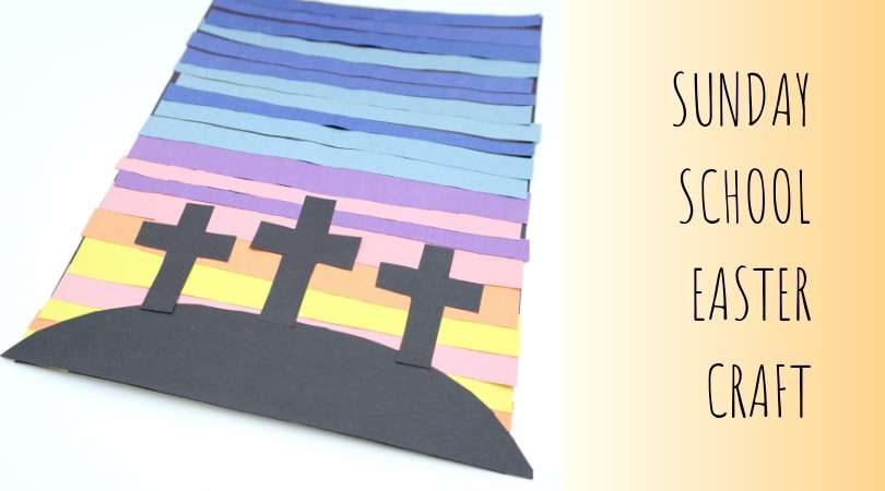 An easy Sunday school Easter craft of the 3 crosses