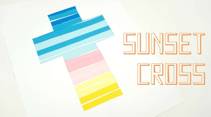 How to make an easy preschool cross craft