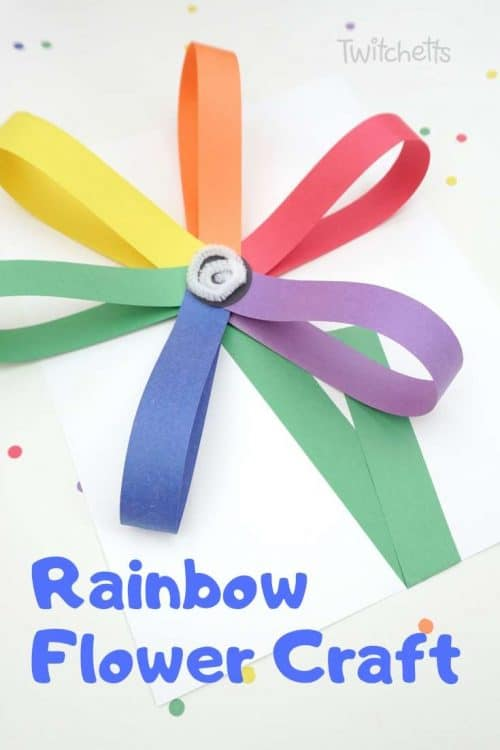 How to make giant rainbow paper flower craft with kids #twitchetts