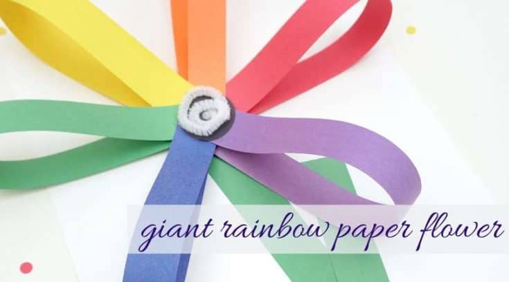 Giant Rainbow Paper Flowers