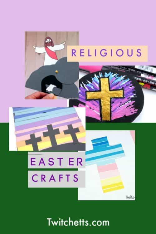 These religious Easter crafts are a wonderful Sunday School Easter craft to do during the Easter season. #twitchetts