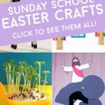"""Images of Religious Easter crafts. Text reads """"Sunday School EAster Crafts"""""""