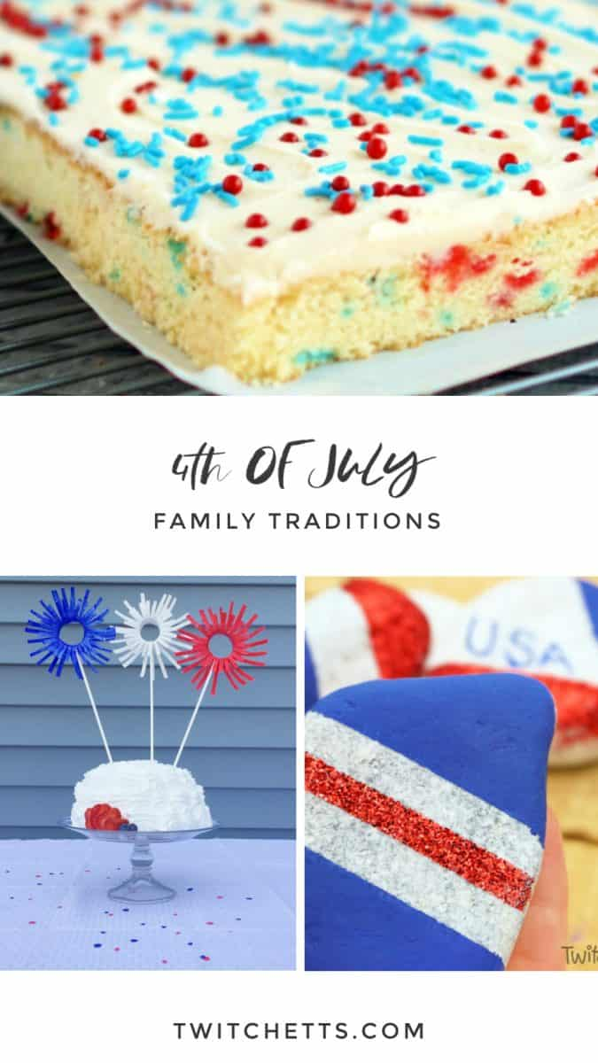 Celebrate our nation with these fun and easy 4th of July traditions that the whole family can enjoy together. From games to creating centerpieces for the food table. #twitchetts