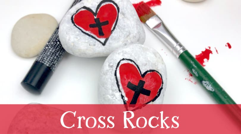 How to make this easy cross rock painting idea for kids