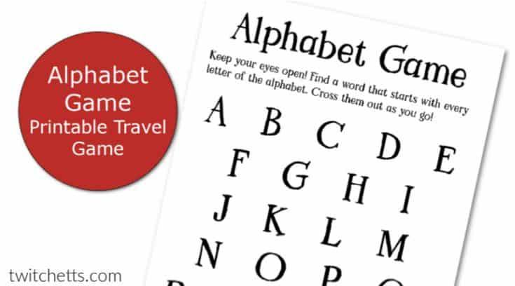 Printable Alphabet Game