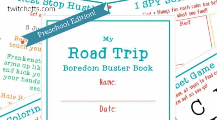 Road Trip Boredom Buster Book - Preschool Edition