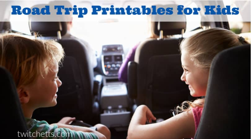 These road trip printables are perfect for creating memories on the road. Because when you load up the van for a long car ride, you're going to want a lot of fun car trip activities that will keep your kiddos entertained. #twitchetts