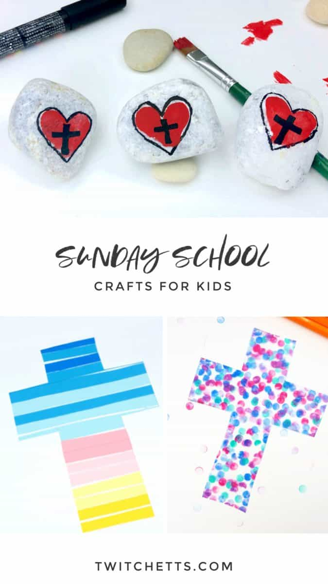 Religious crafts for kids are great for learning about the bible. Not only are these crafts fun, but they are perfect for Sunday School, Vacation Bible School, or a church camp. #twitchetts