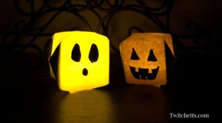 Construction Paper Halloween Lanterns