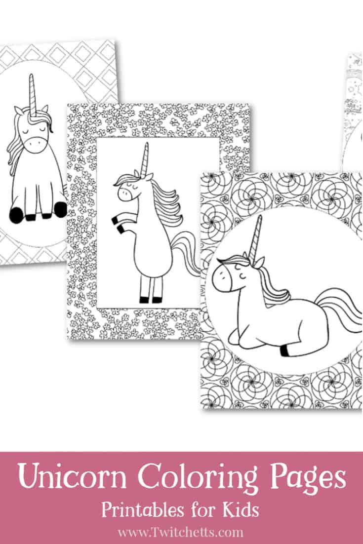 Coloring pages are fun for children and adults. It is a great way to relax and bond with your kids. If you have a unicorn lover these fun printable unicorn coloring pages will keep them entertained. #twitchetts