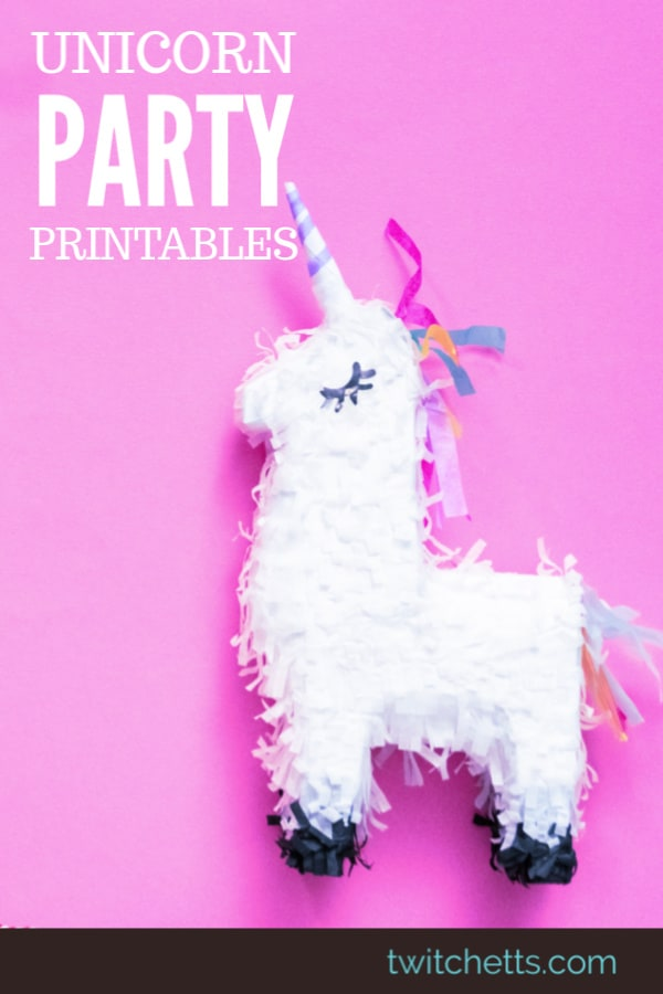 Grab the perfect printables for unicorn birthday parties. From invitations to party favors, these printables will help create party memories. #twitchetts