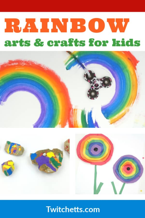 Rainbow arts and crafts for preschoolers, kindergarten, and more! #twitchetts