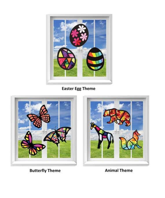 Stained Glass Effect Paper Suncatcher Kits
