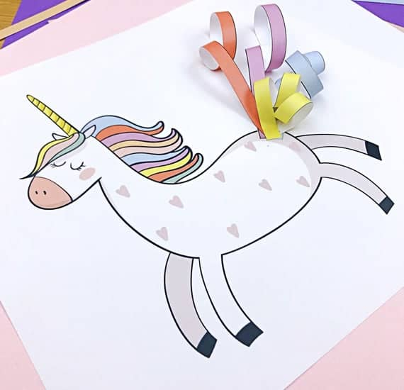 Unicorn Printable Craft for kids