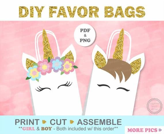 Unicorn Party Favor Bags