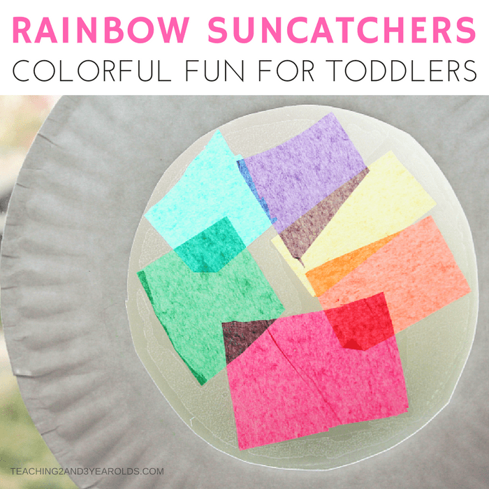 Rainbow Suncatchers for Toddlers