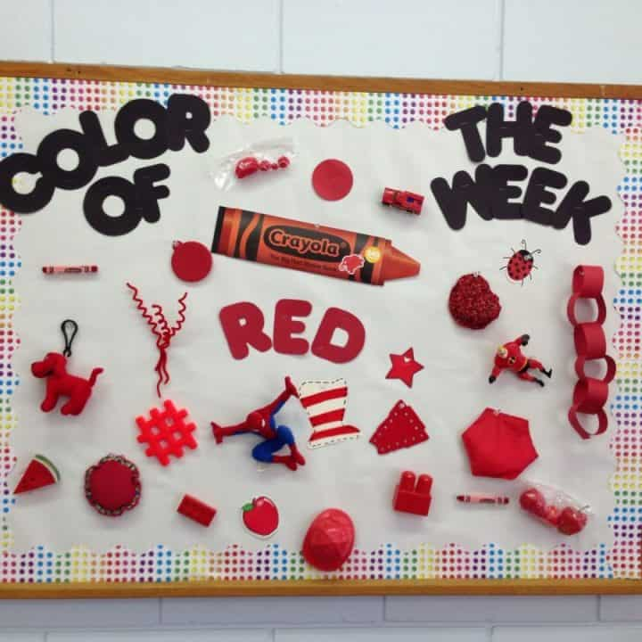 Decorate your class with this red day bulletin board