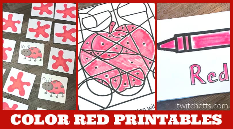 This collection of color red worksheets for preschool are designed to help your 4-year-old learn about the primary color, red. From fun printable games to simple coloring pages. It's a great resource for your red day activities.