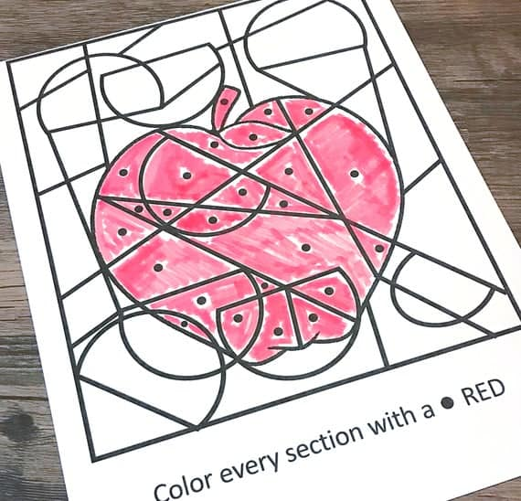 Color Red Dot Coloring