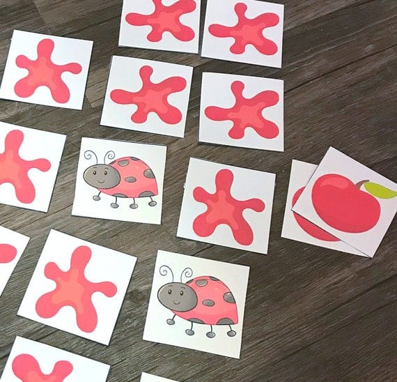 Color Red Matching Game