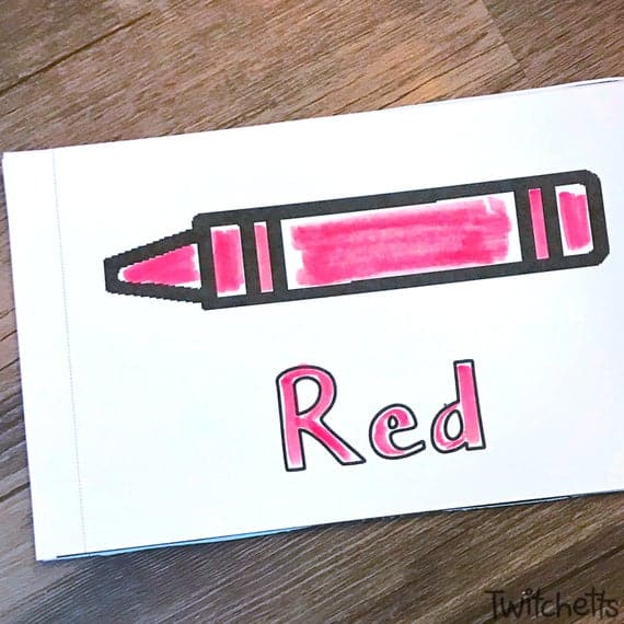 Color Red Booklet