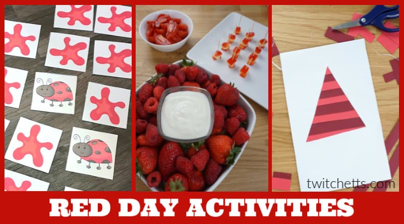 Create memories with these red day activities for preschool. Your kids will love learning about the color red while you have a fun celebration. Enjoy red foods, decorations, and crafts.