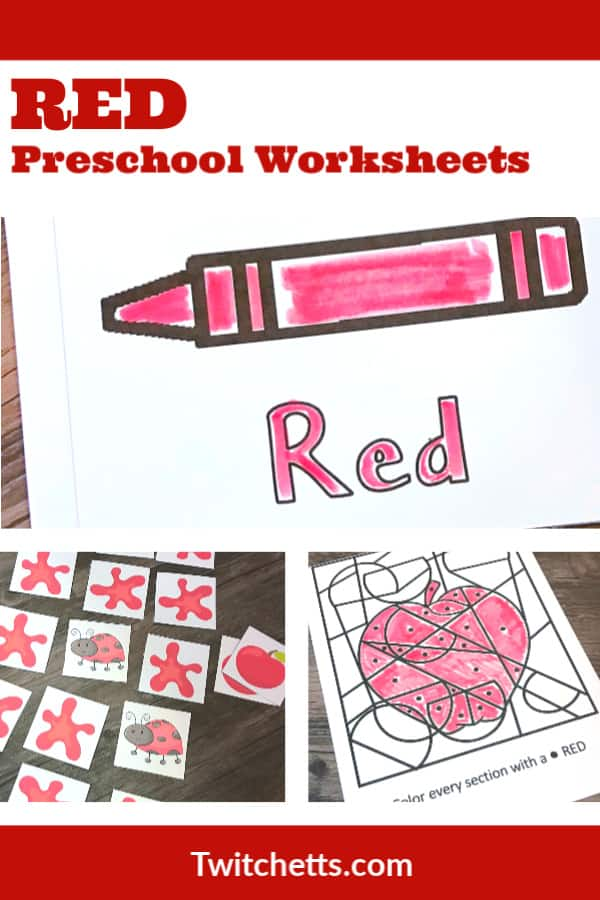 These red printables are perfect for your red day activities