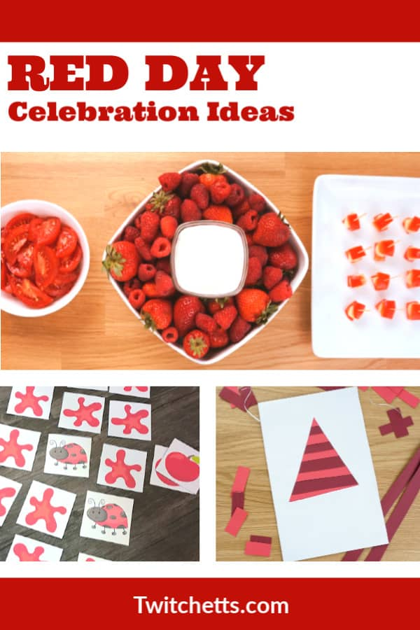 Fun red day celebration ideas for preschool class. #twitchetts